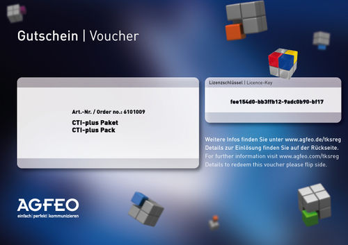 AGFEO CTI Plus Paket Key Voucher